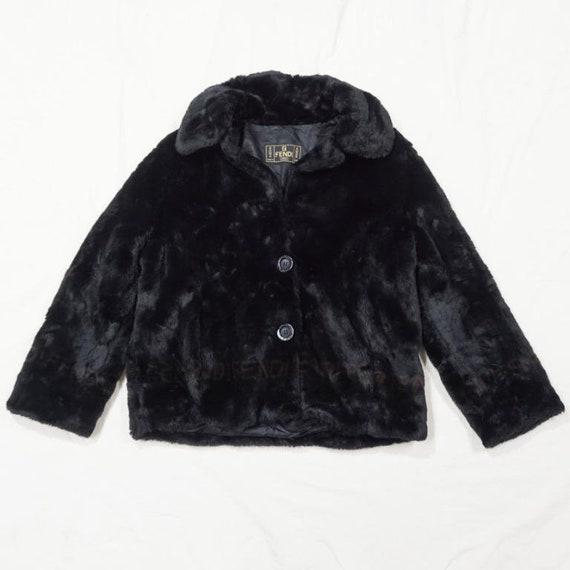 Vintage Fendi Black Fur Women Jacket Winter Jacket