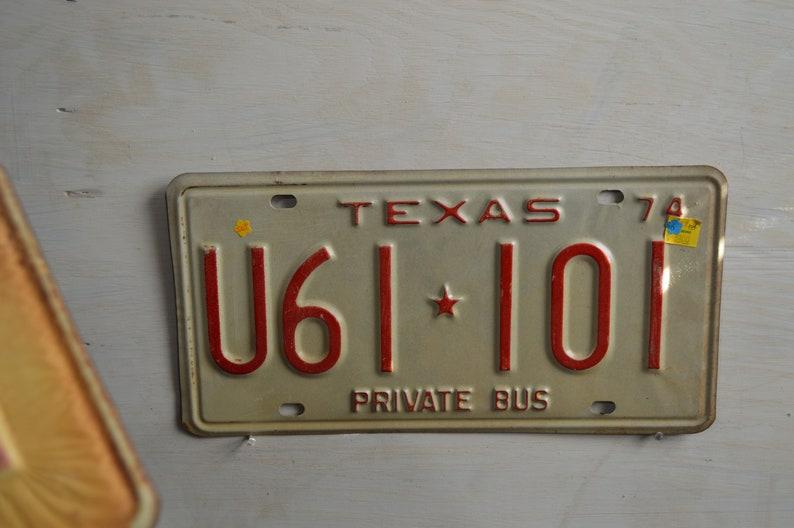 1974 unused Texas Private Bus  U61 101  License plates