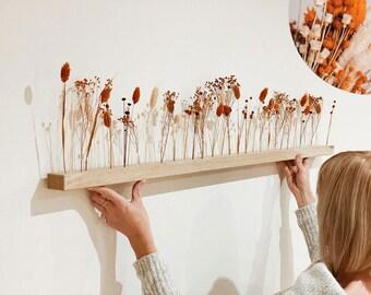 "LIMITED EDITION Flowerbar ""Autumn Air"" Dried Flowers Flowergram & Noble Oak, Wood Arrangement, Dried Flowers, Durable"