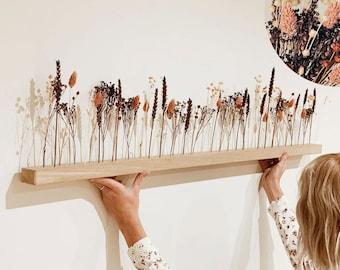 "Flowerbar ""Gold Right"" Dried Flowers Flowergram & Noble Oak, Wood Arrangement, Dried Flowers, Durable"