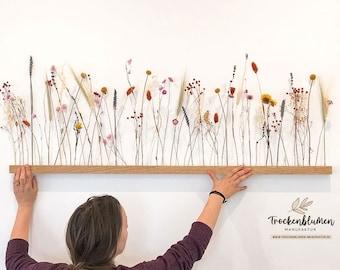 """Flowerbar """"Flower Meadow"""" Dry Flowers Flowergram & Noble Oak, Wooden Arrangement, Dried Flowers, Durable"""
