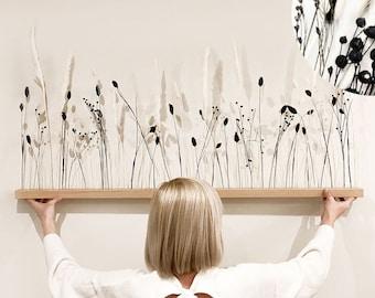 "Flowerbar ""Dream Dancer"" Dry Flowers Flowergram & Noble Oak, Wooden Arrangement, Dried Flowers, Durable"
