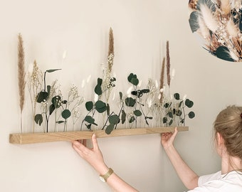 "Flowerbar ""Fernweh"" Dried Flowers Flowergram & Noble Oak, Wooden Arrangement, Dried Flowers, Durable"