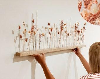 "Flowerbar ""Fata Morgana"" dried flowers Flowergram & noble oak, wood arrangement, dried flowers, durable"