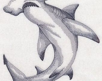 SHARK ECHO HAND TOWEL SET CUSTOM EMBROIDERED