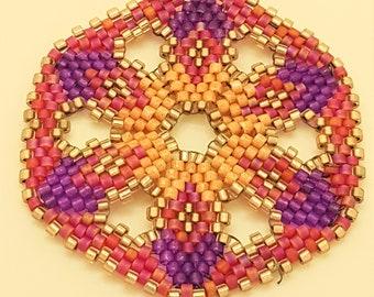 Peyote Medallion Necklace