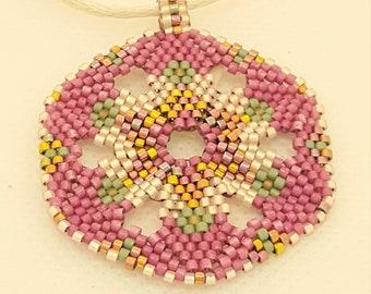 Peyote Pink Medallion