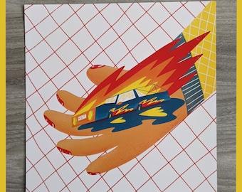 Hot rod - square digital print