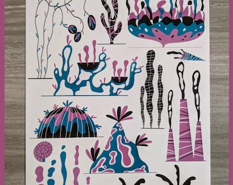 Coral reef - A4 digital print