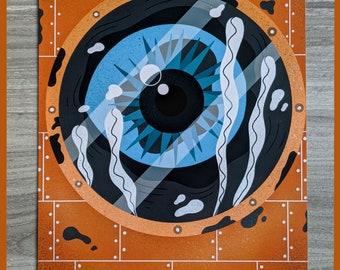 Submarine creature - A4 digital print