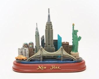 New York City Skyline Pendant Oval Trinket Jewelry Box