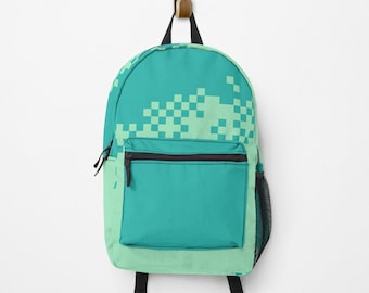 Personalized backpack, with your name | hatgirlBAGS 8bit Graphics Pixel School Start Gift