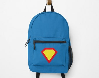 Personalisierter Rucksack, mit Deinem Namen | hatgirlBAGS Superhelden, Schulhelden, Schulanfang Geschenk Geschenk