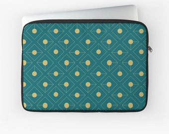 Customizable Laptop Case Sleeve Protective Case Laptop or Tablet with Name HatgirlBAGS Golden Pattern Collection