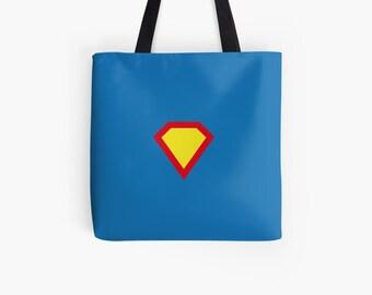 Personalizable fabric bag shopper shoulder bag superheroes, school heroes| hatgirlBAGS Mom Mother's Day Gift