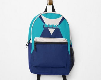 Personalized backpack, with your name | hatgirlBAGS NAMEIT Retro Design School Start Gift