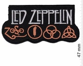 Led Zeppelin Zoso VINTAGE MINT Condition 80s Patch Badge Embroidered Iron on Applique