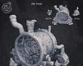 Sewers Portal by Cast n Play. Resin 3D print in scales 28mm, 32mm and 40mm. December 2020