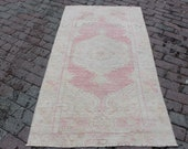 2 39 8x5 39 9 vintage beige creamy red Anatolian Unique Carpet Rug,Turkish Beautiful Traditional Runner ,Wool,handmade gift for her