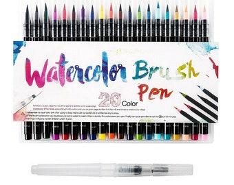 Watercolor Brush Pen Drawing Painting Brush Artist Sketch Manga Marker Pen Set 20 pcs