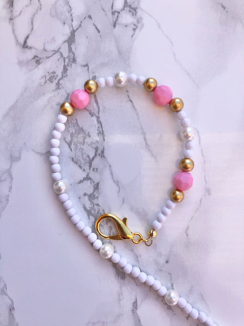 Adult or Child Fancy Pink Mask Chain