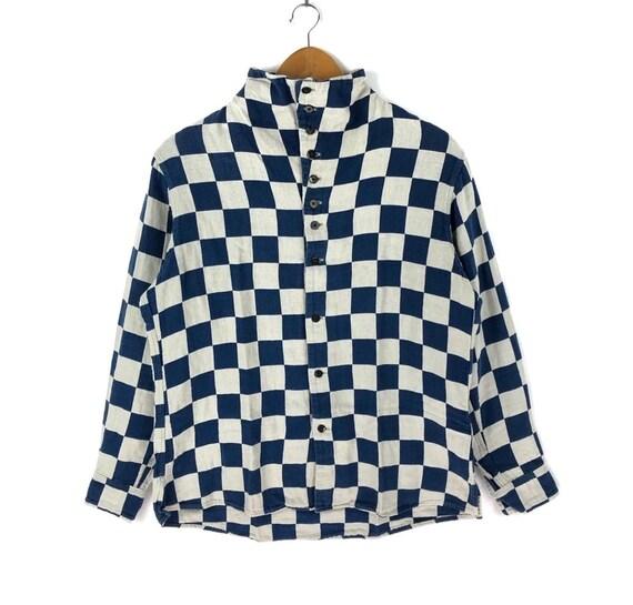 Kapital Japan Checkerboard Mandarin Collar Shirt