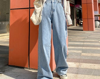 Baggy Jeans - Wide Leg Jeans / High Waisted Jeans / Oversized Jeans / Denim Jeans / Vintage Jeans