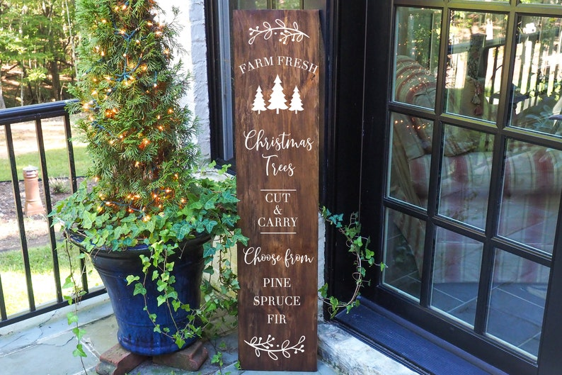 Porch Sign Christmas Porch Decor Rustic Porch Christmas Porch Sign Farm Fresh Porch Sign Farmhouse Porch Christmas Vertical Porch Sign
