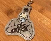 Frozen Bernie Mitten sanders Key Ring - cold shoulder Bernie - feel the bern keychain