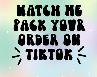 Packing Orders On Tiktok   This is Free Please Read Discription