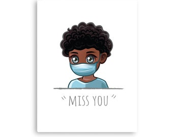 Printable Christian, Miss You, Digital Downloadable Card, Social Distancing, Includes Free Envelope Template, Instant PDF Download Size 5x7