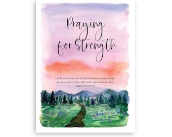 Printable Christian, Sympathy, Digital Downloadable Condolences Card, Scripture, Includes Free Envelope Template, Instant PDF Download 5x7