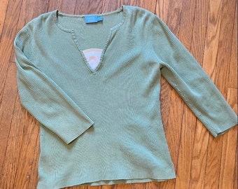 Light Green 3/4 Sleeve Top