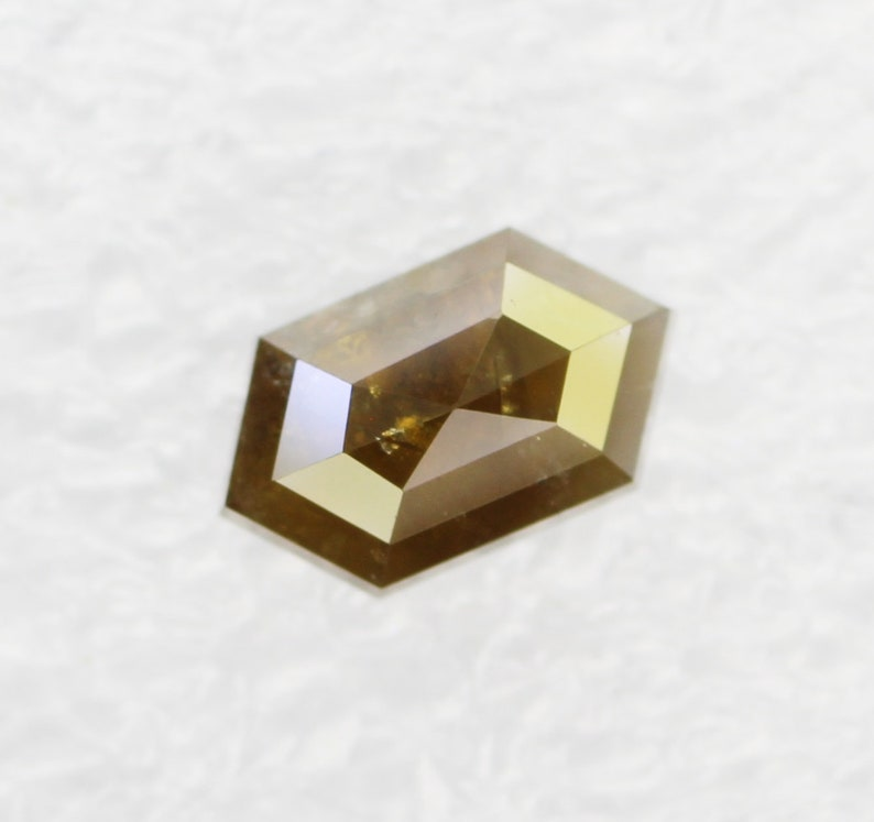 0.92 CT Brown Color hexagon shape loose diamond for engagement ring wedding ring or jewelry 7.6 X 4.5 MM SG6156