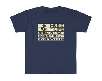 """Unisex Softstyle """"Music if life"""" T-Shirt"""