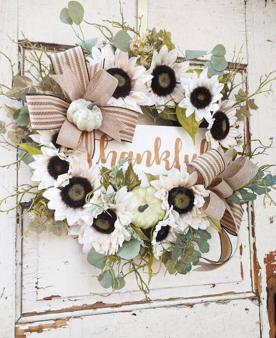 Fall Wreath- Thankful