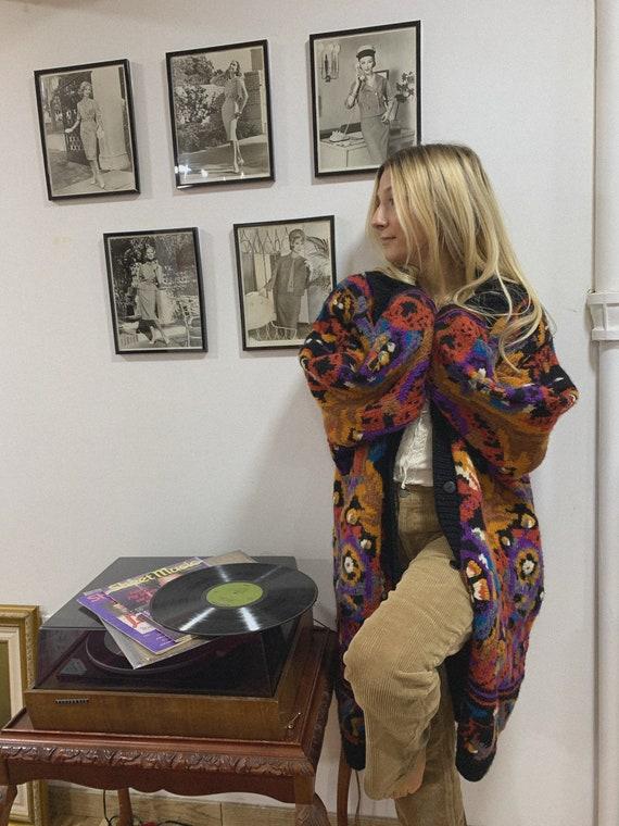 80's oversized cardigan