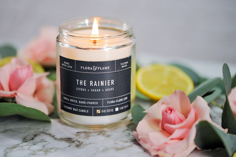 The Rainier Coconut Wax Blend Candle image 0