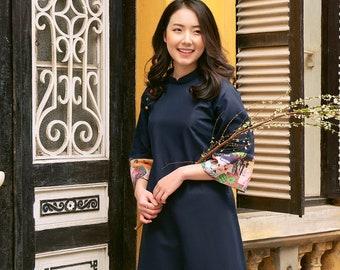 Vietnamese Ao Dai, Linen Ao Dai, Linen Fashion, Ao Dai Vietnamese, Vietnamese Traditional Dress for Women, Lunar New Year Traditional Dress