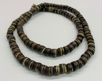 250 Vintage Sliced Chocolate Sandcast Beads Brown Powdered Glass Powder Glass Beads Glass Spacer Beads Brown Glass Beads SND-DSK-BRN-168