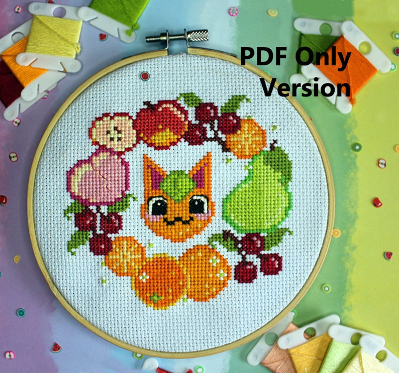 Tangy Fruit Cross Stitch PDF Only