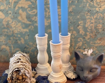 White Chime Altar Candle holder