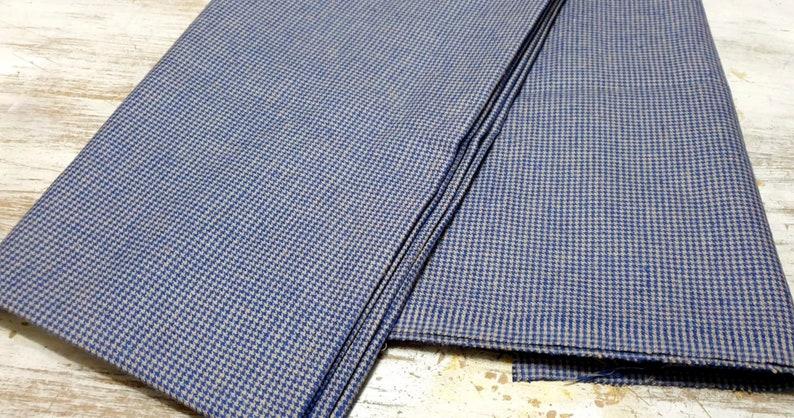 Nay Blue Gray Fabric Fabric By Yard Houndstooth Fabrics DIY Craft Sewing Garment Fabric Yarn dyed Fabric Cotton Blend Fabric