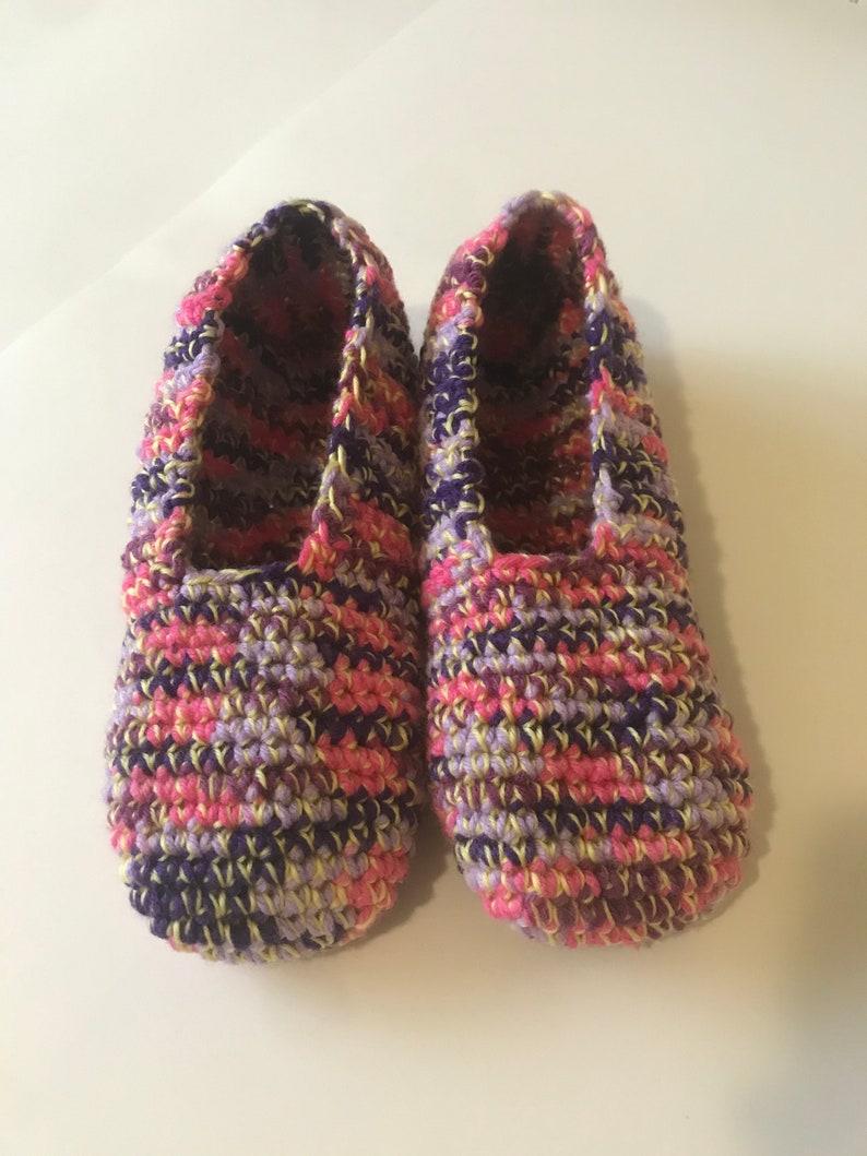 Birthday Gift Women Size 10 Men Size 8.5 Gift for Them Handknit Cozy Slippers Romanian Handmade Christmas Gift Crochet Slippers