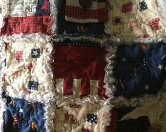 THE SACK Americana Bag Kit Real Vintage Americana Jacquard Fabric!