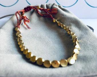 Handmade Tibetan Copper Bead Bracelet, Buddhist Copper Bead Bracelet, Buddhist Bracelet, Meditation Bracelet, Yoga Bracelet