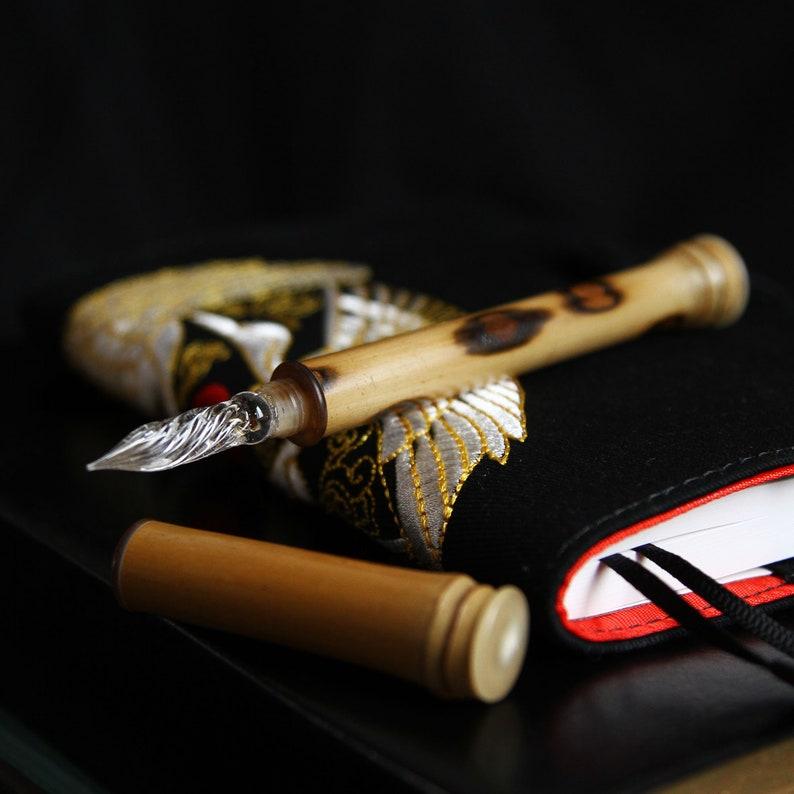 Gift For Write Butterfly Bamboo Dip Pen\uff0cDip Pen Set Vintage Sandalwood Pen
