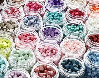 Sealing Wax beads, wax seal craft, 62 colors.