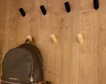Wood wall hook Set 3 Coat hanger Wall Mounted Hat Round rack Towel hook bathroom Wall design wood