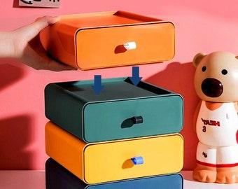 Stackable Storage, Desktop Organizer, Makeup Storage Box, Medicine Case - save your living space, building your perfect organizer!
